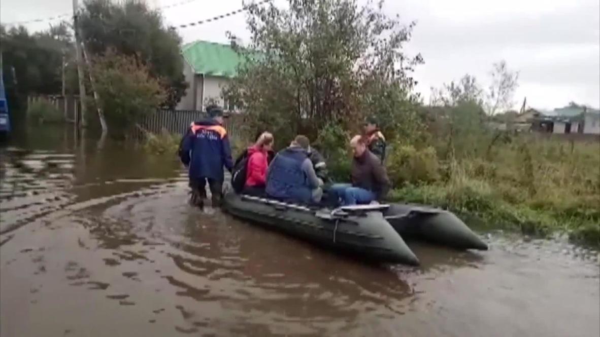 Россия: Спасатели устраняют последствия паводка в Хабаровском крае