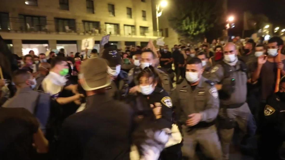 Israel: Varios detenidos durante una manifestación en contra del Gobierno en Jerusalén