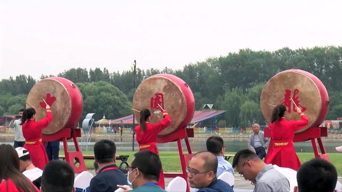 الصين: بكين تكشف النقاب عن قارب تنين جديد تحضيراً للألعاب الأولمبية في طوكيو