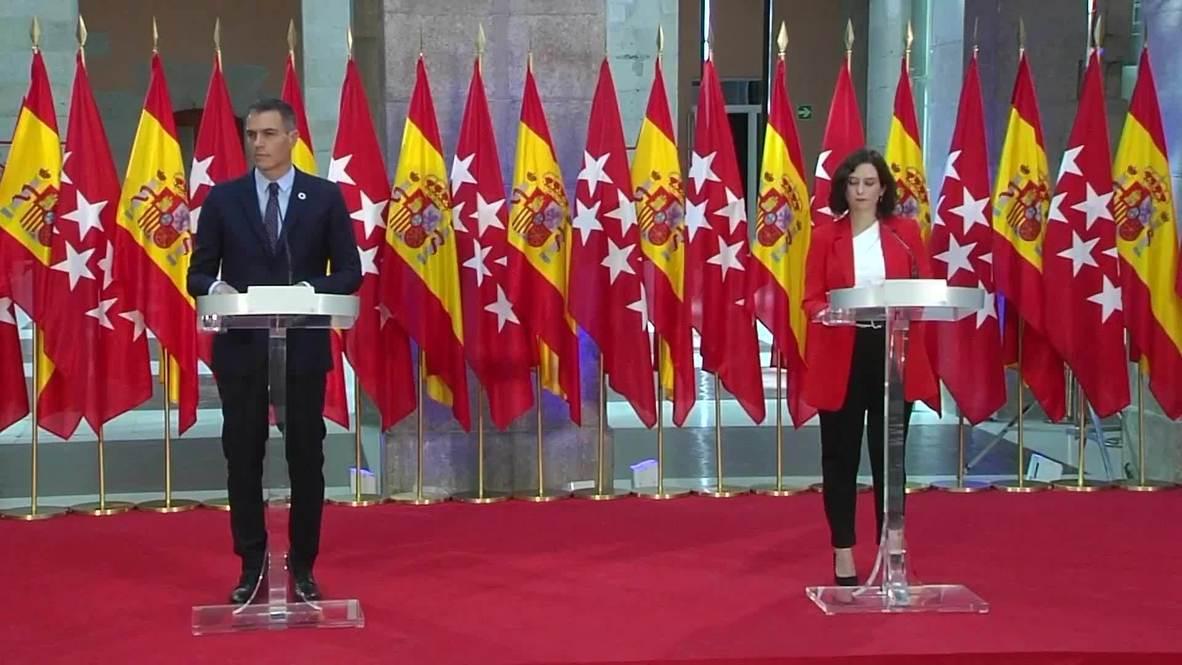 """España: El Gobierno acuerda crear un """"espacio de cooperación"""" con Madrid para hacer frente a la pandemia"""