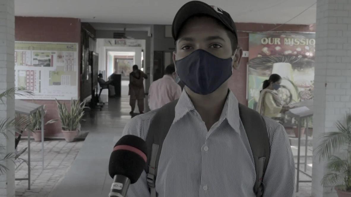 India: Chandigarh students return to school under tight anti-coronavirus measures