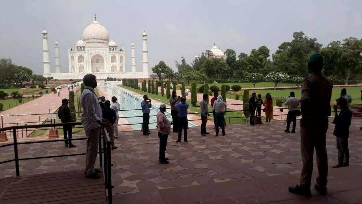الهند: إعادة افتتاح تاج محل بعد توقف دام ستة شهور مع مراعاة قيود الوقاية من كوفيد