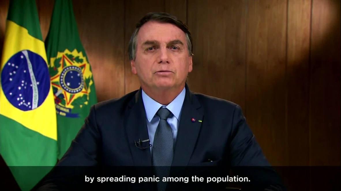 """الأمم المتحدة: بولسونارو يهاجم وسائل الإعلام ويتهمها """"بتسييس فيروس كورونا"""""""