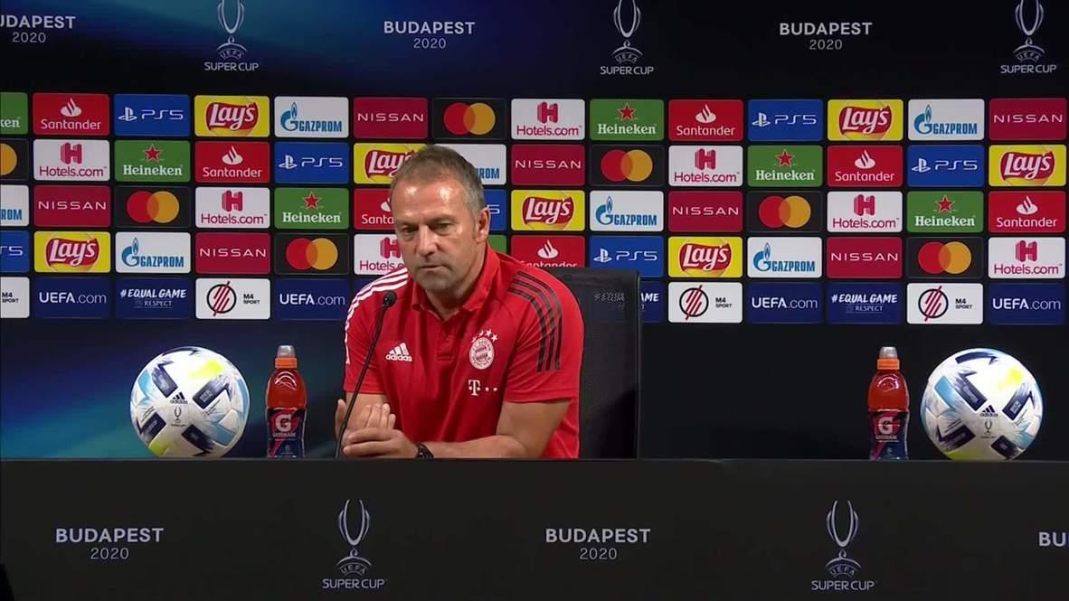 Hungría: Técnico del Bayern Múnich minimiza el riesgo del covid antes de la final de la Supercopa en Budapest
