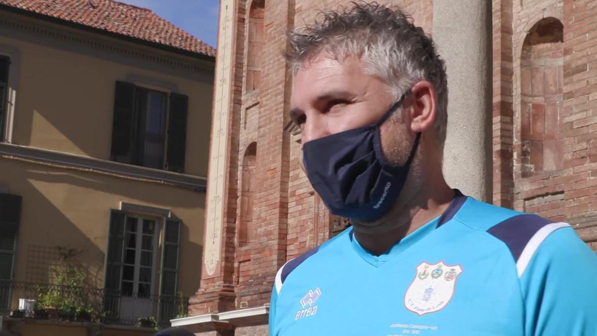 Italia: Primer paciente de covid-19 del país corre en una carrera de relevos para honrar a las víctimas del covid-19