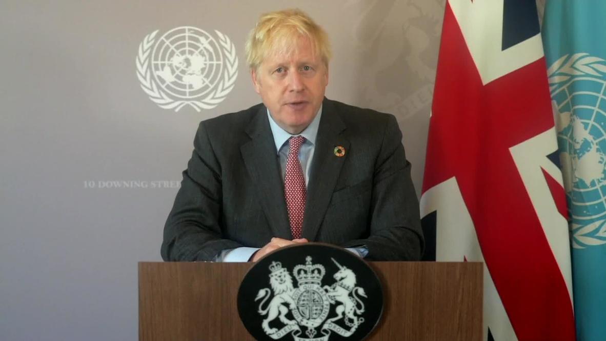 ONU: Boris Johnson promete un aumento del 30 por ciento en la financiación de la OMS