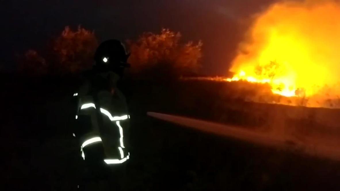 Россия: Работы по тушению природных пожаров проводятся в Ростовской области