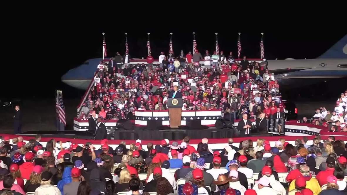 الولايات المتحدة الأمريكية: ترامب يمتدح مرشحته لمنصب قاضية المحكمة العليا في تجمع انتخابي ببنسلفانيا