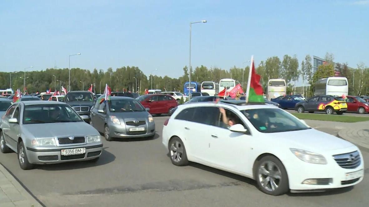 Белоруссия: В Минске прошел автопробег в поддержку президента Лукашенко