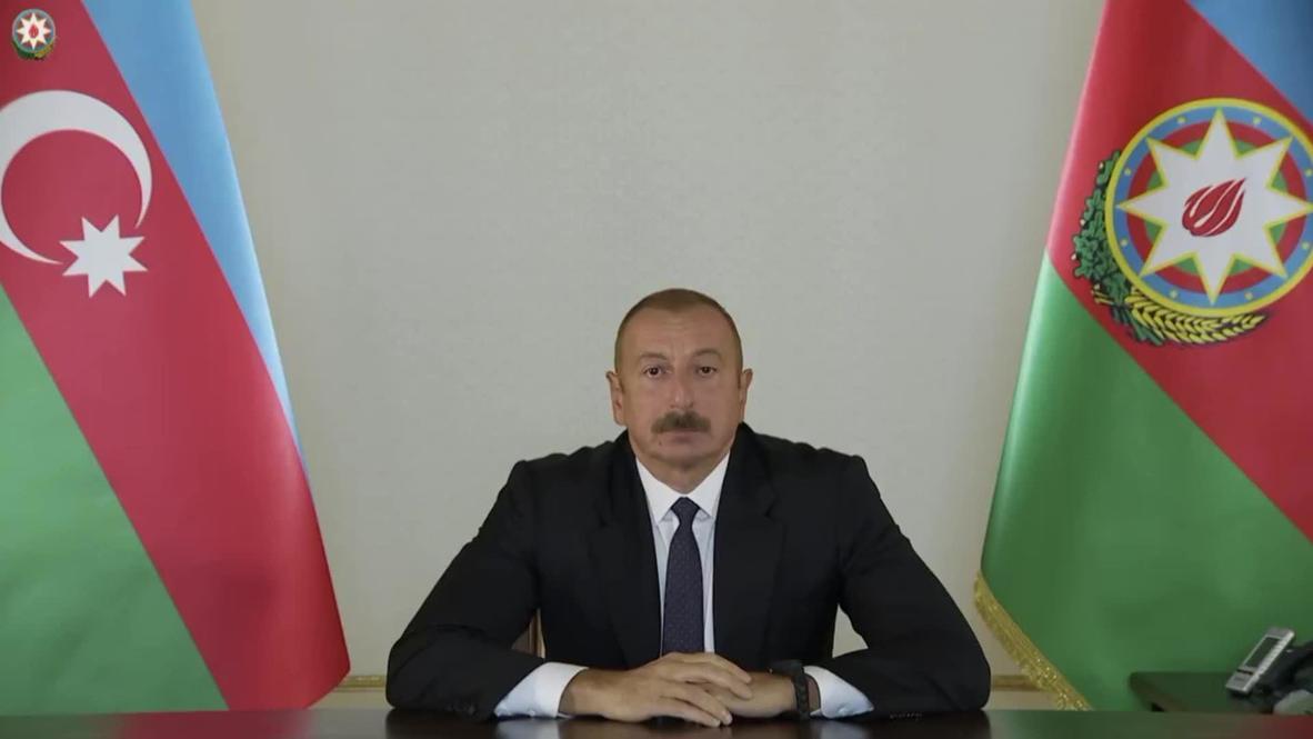 أذربيجان: الرئيس إلهام علييف يخاطب مواطنيه بعد اندلاع الصراع في قره باغ
