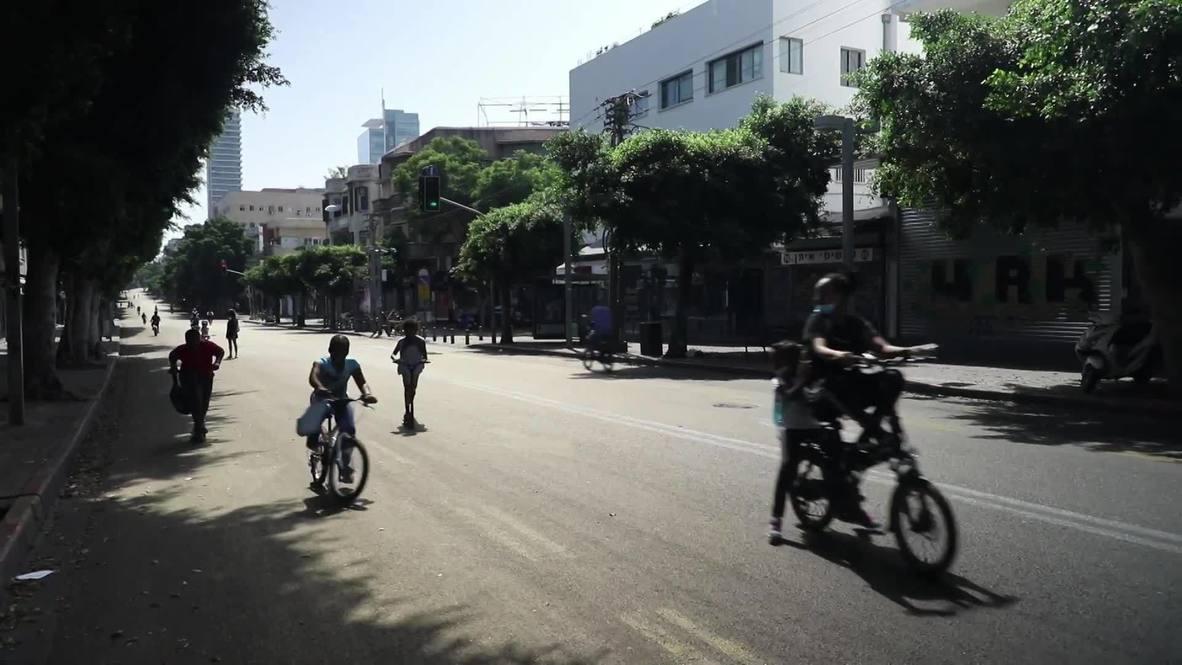إسرائيل: أطفال يحتفلون بمهرجان الدراجات وسط شوارع تل أبيب الخالية في يوم عيد الغفران