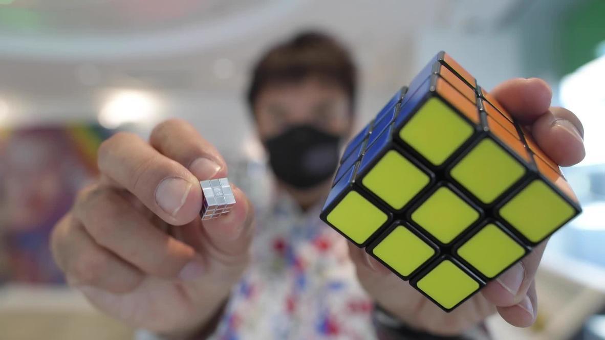 Кручу-верчу. Самый маленький в мире кубик Рубика создали в Японии