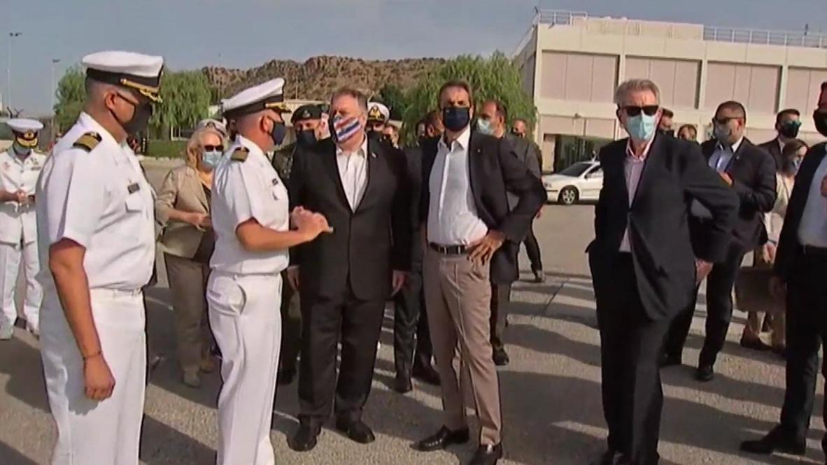 Grecia: Primer ministro Mitsotakis se reúne con Pompeo en la base naval de Estados Unidos en Creta