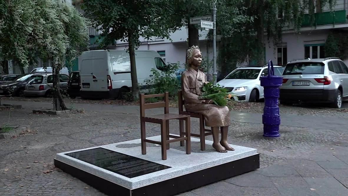 """ألمانيا: تمثال """"نساء المتعة"""" في برلين يثير انتقادات من اليابان"""