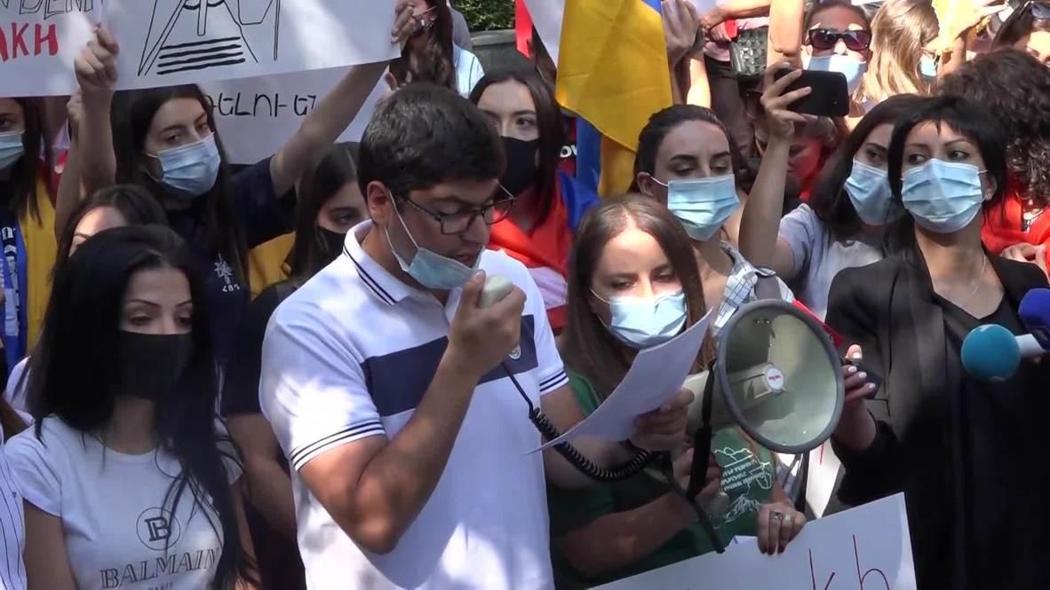 أرمينيا: سكان يريفان يحتشدون أمام مكتب الأمم المتحدة بسبب نزاع قره باغ