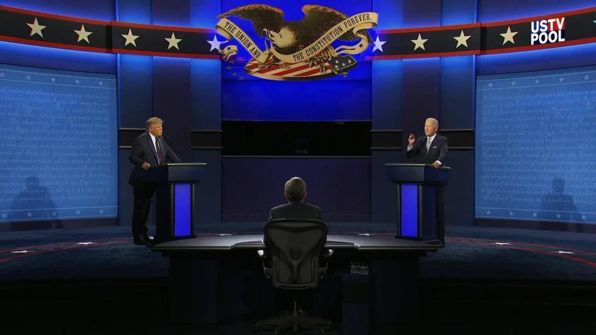 EE.UU.: 'No hay nada inteligente en ti, Joe' - Trump a Biden durante el debate