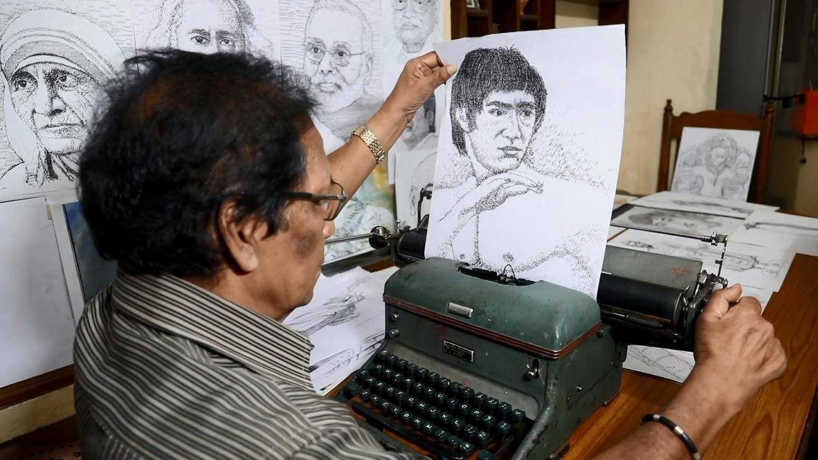 TYPElangelo! Indian artist creates portraits on typewriter in Bengaluru