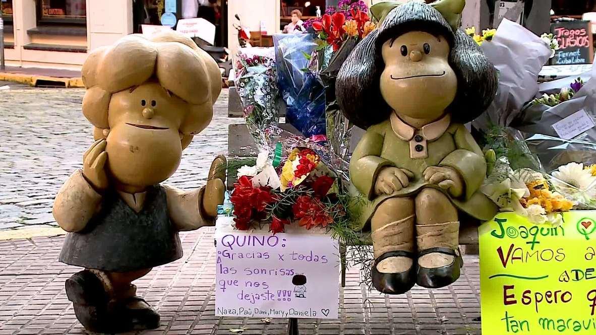 Argentina: 'Great pain' - Fans bid farewell to Mafalda's creator as he dies at 88