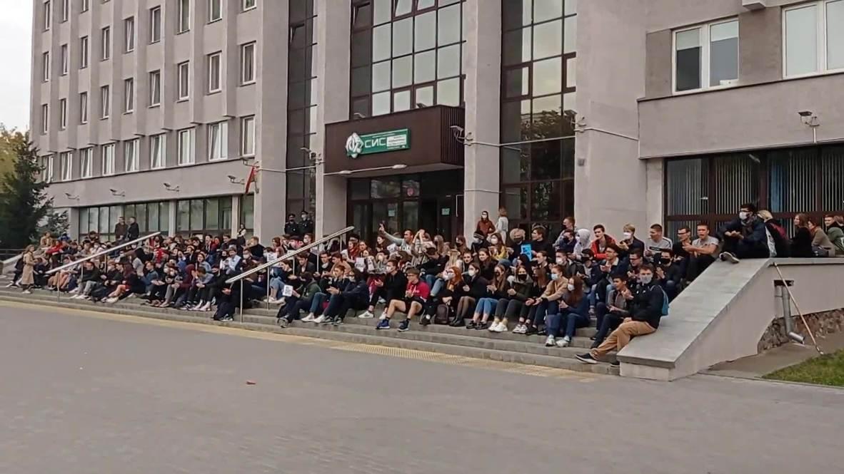 Белоруссия: Студенты БГУИР протестуют из-за задержания преподавателя вуза