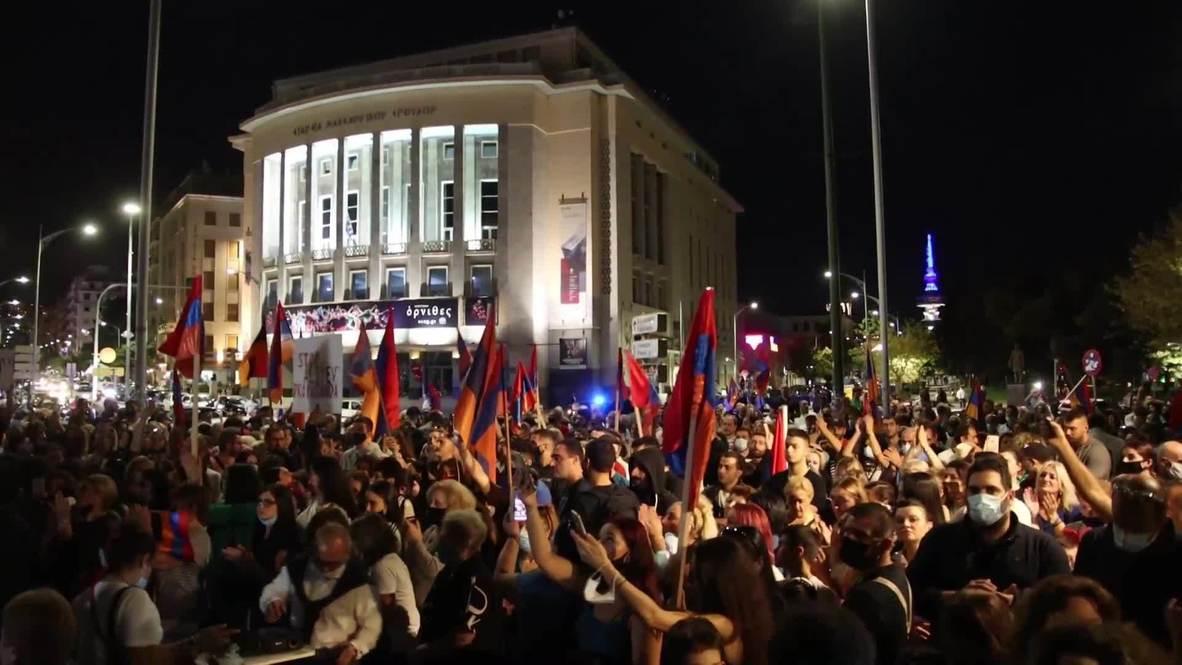 Greece: Over 2,000 pro-Armenian demonstrators protest against Azerbaijan and Turkey