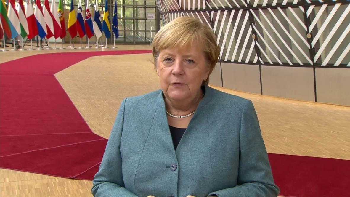 بلجيكا: ميركل تعرب عن رغبة الاتحاد الأوروبي تنفيذ اتفاق بريكست إنما ليس بأي ثمن