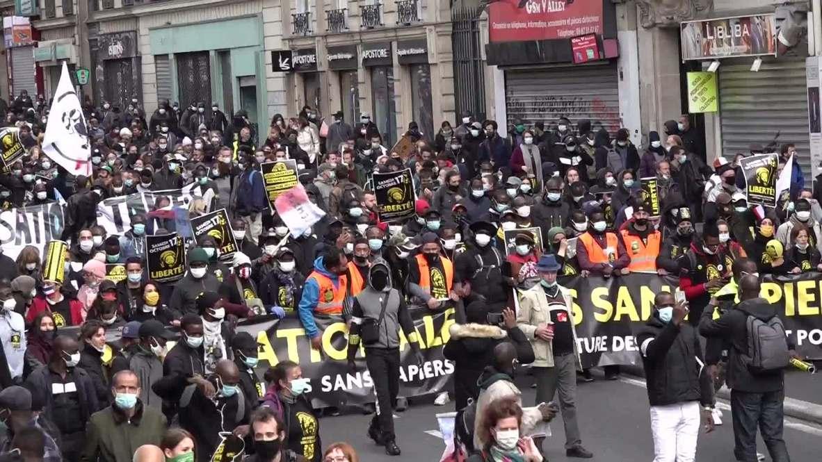 France: Hundreds flood Paris demanding regularisation of undocumented workers