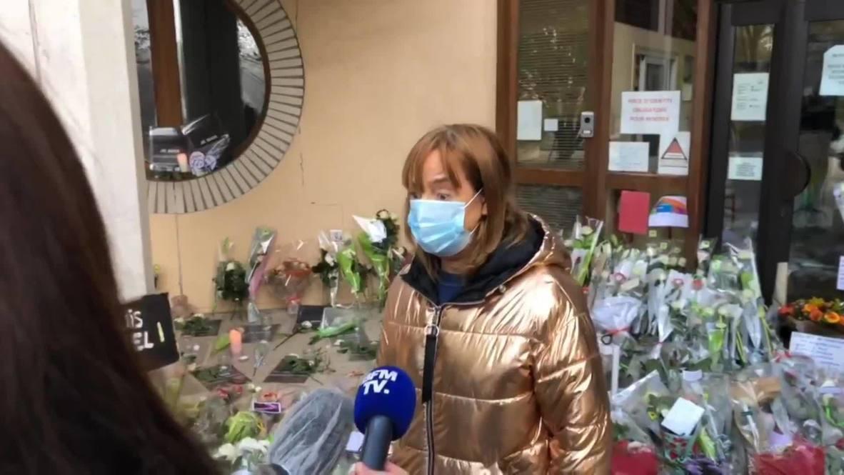 """Франция: """"Так больно, так жестоко, невыносимо"""" - скорбящая об убитом учителе"""