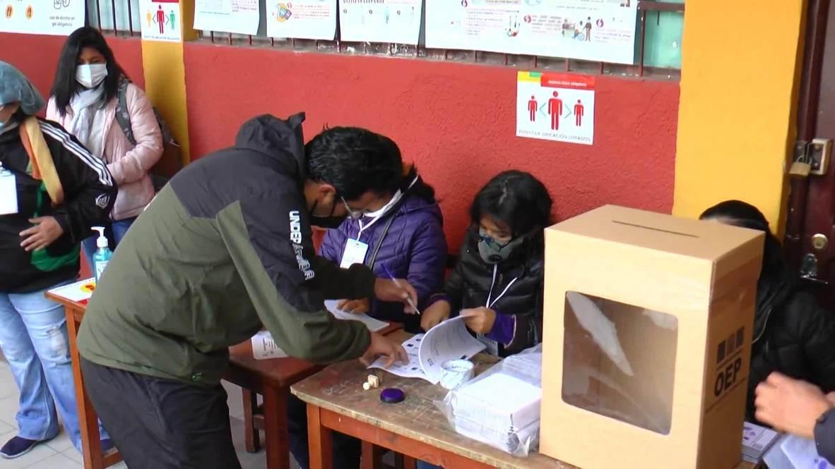 Bolivia: La Paz locals cast ballots in presidential election