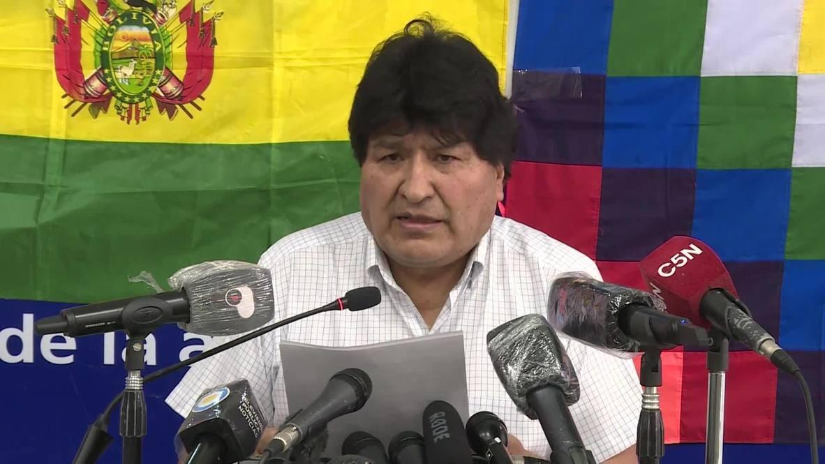 """Argentina: Evo Morales pide """"esperar con tranquilidad"""" los resultados de la elección presidencial en Bolivia"""