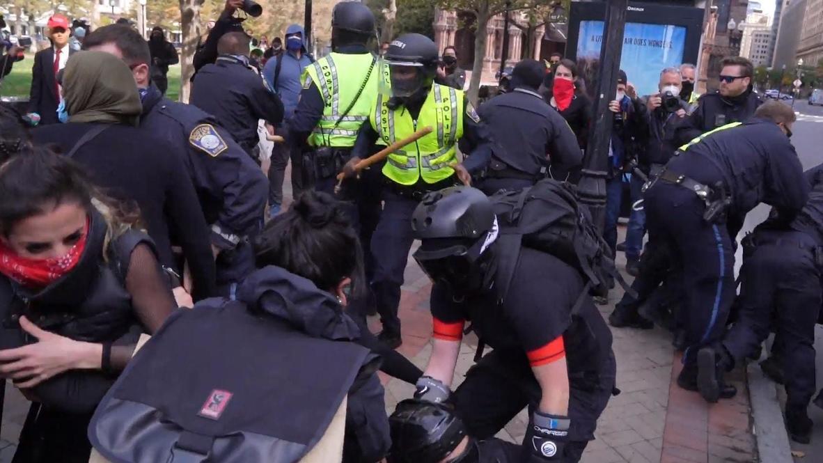 EE.UU.: Manifestantes en contra y a favor de Trump se enfrentan en Boston