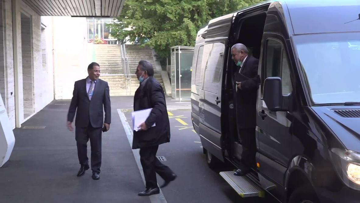 سويسرا: وصول الوفود المشاركة في الجولة الرابعة من محادثات اللجنة العسكرية الليبية المشتركة