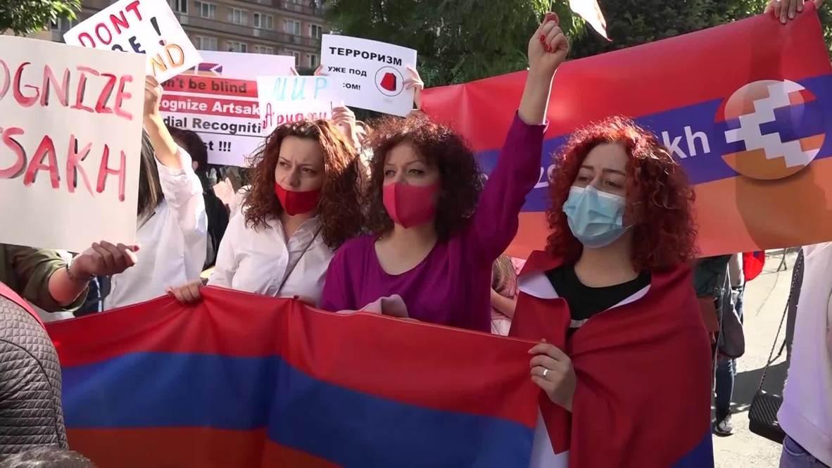 Armenia: Women protest in Yerevan against 'Azerbaijani aggression' in Nagorno-Karabakh
