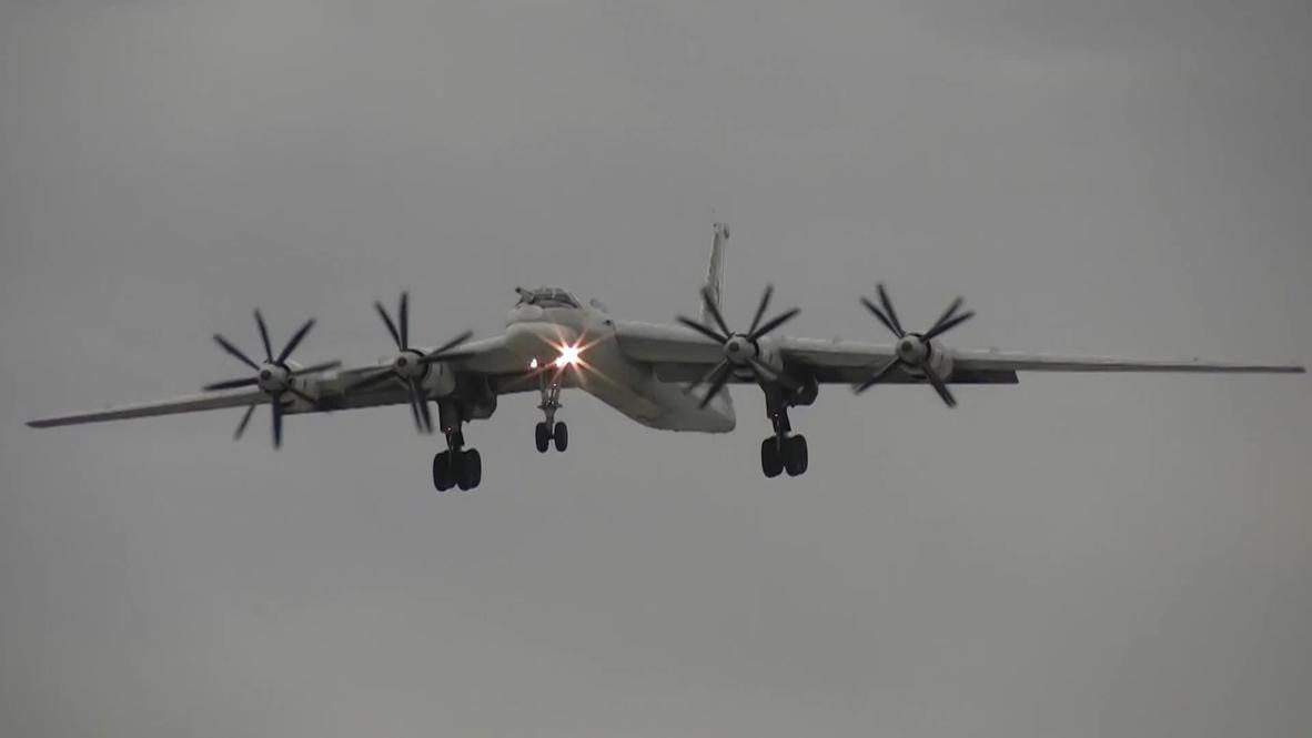 Российские стратегические ракетоносцы Ту-95МС выполнили полет над нейтральными водами Арктики и Дальнего Востока