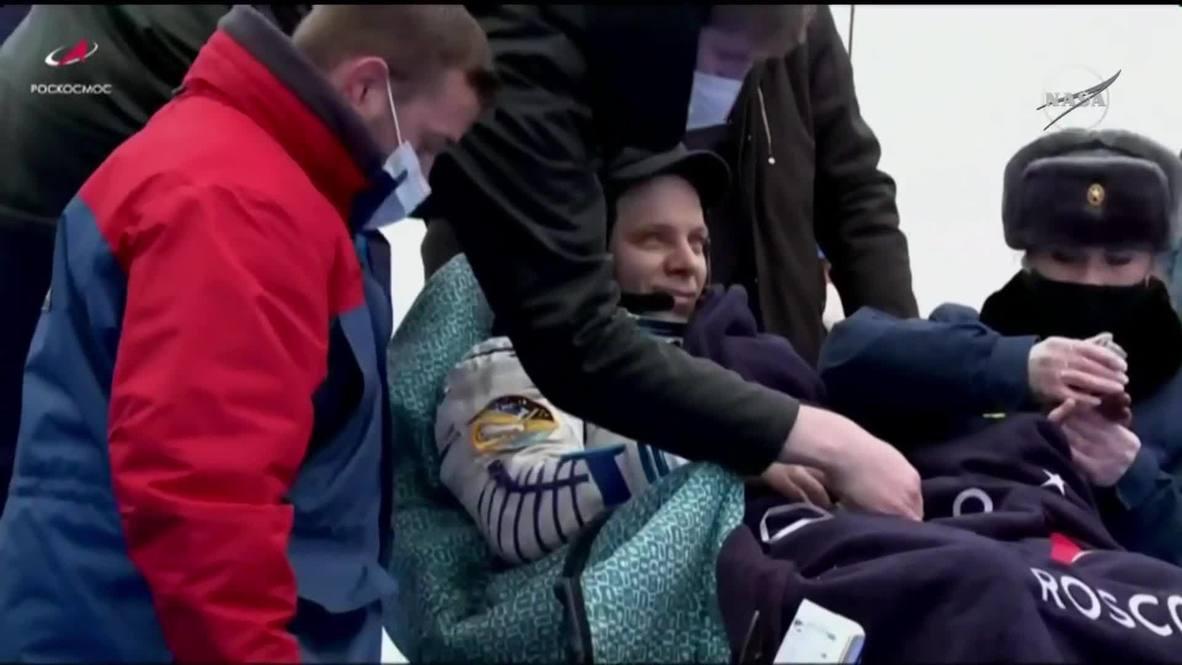 """Казахстан: """"Союз МС-16"""" с экипажем МКС на борту вернулся на Землю"""