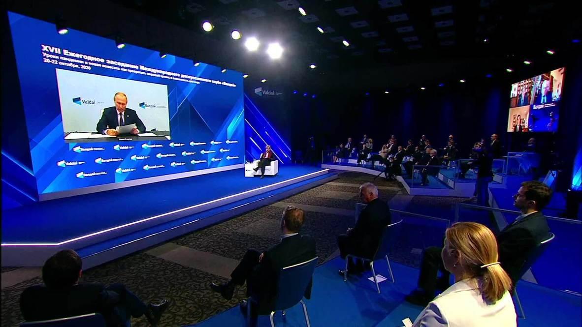 روسيا: بوتين يتناول قضايا نافالني وقره باغ وتأثير االجائحة في منتدى فالداي للحوار