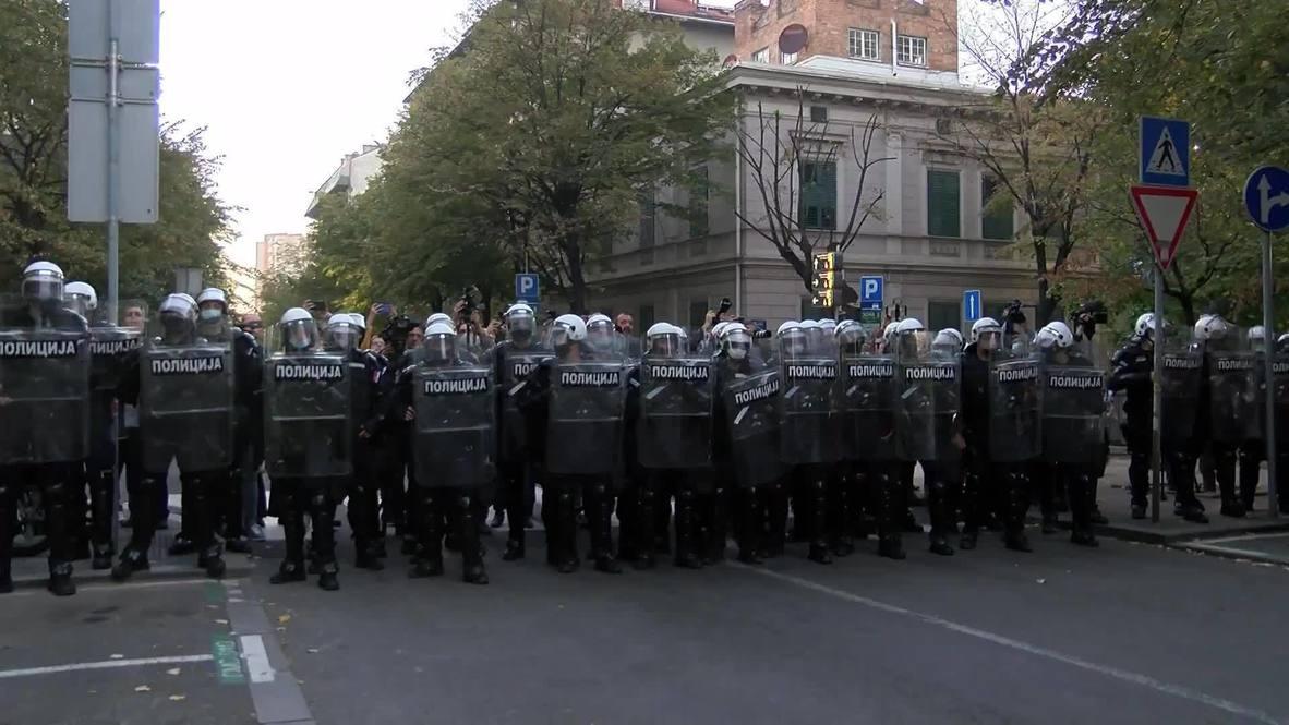 Serbia: Hundreds protest against Kosovo culture festival