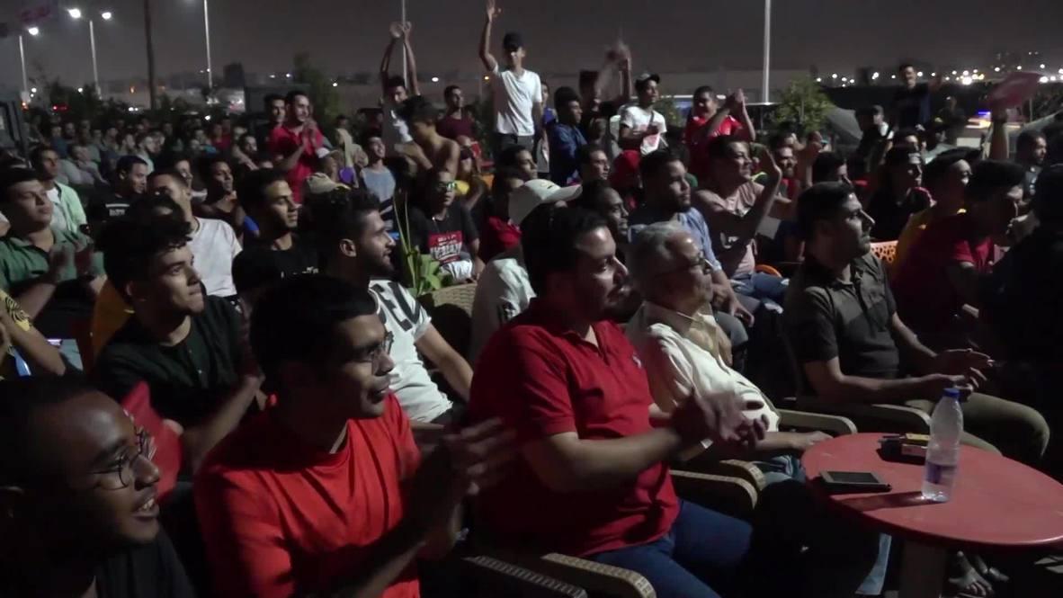 مصر: عشاق النادي الأهلي المصري يحتفلون بوصولهم لنهائي دوري أبطال أفريقيا