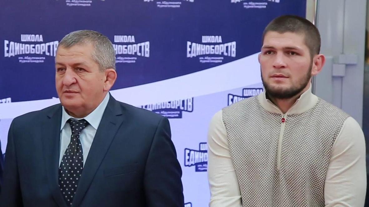 بطل UFC للوزن الخفيف حبيب نورمحمدوف يتقاعد دون هزائم مع نتيجة 29-0 *لقطات أرشيفية*