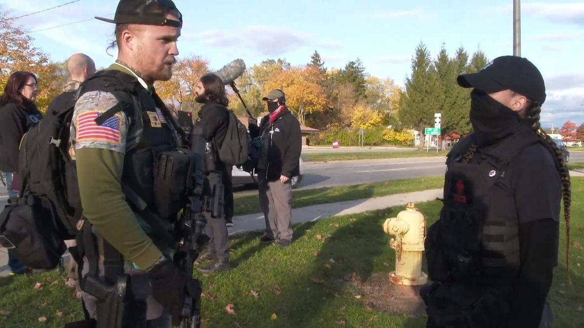 EE.UU.: Manifestantes a favor y en contra de Trump protestan en Michigan