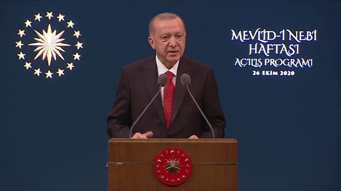 تركيا: أردوغان يدعو الأتراك لمقاطعة البضائع الفرنسية