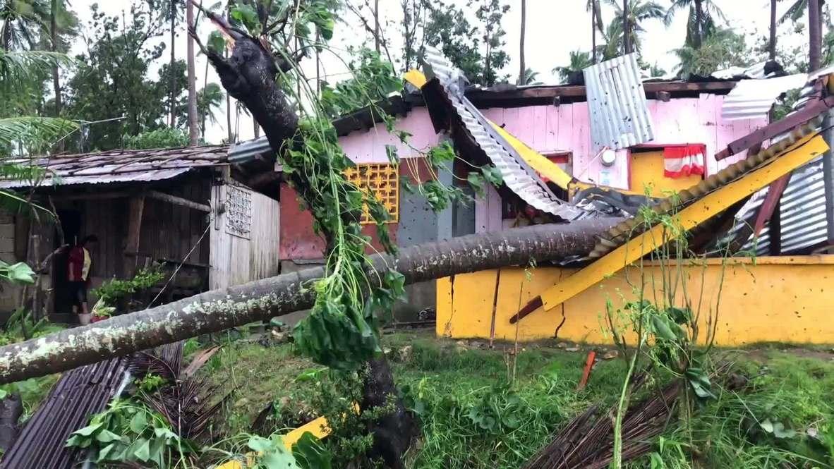 الفلبين: إعصار كوينتا يخلف دمارا لحظة وصوله إلى اليابسة في سان أندريس