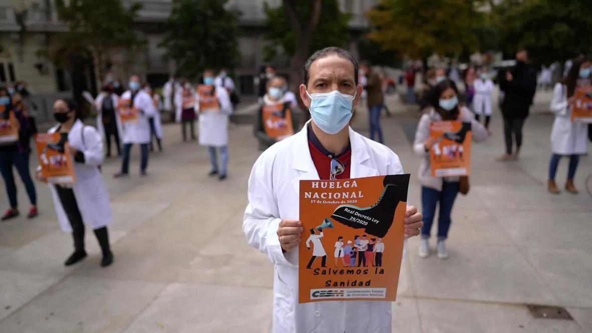 España: Médicos comienzan la primera huelga indefinida en 25 años en plena ola de coronavirus