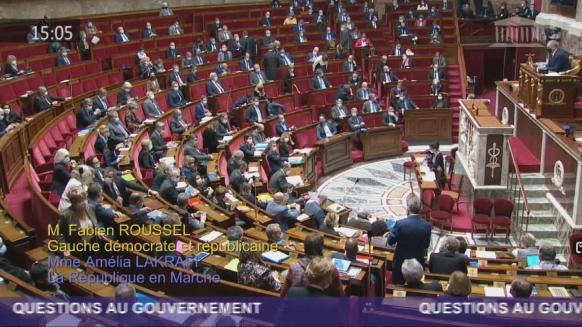 """فرنسا: الجمعية الوطنية تدين """"استفزاز"""" أردوغان ضد ماكرون"""