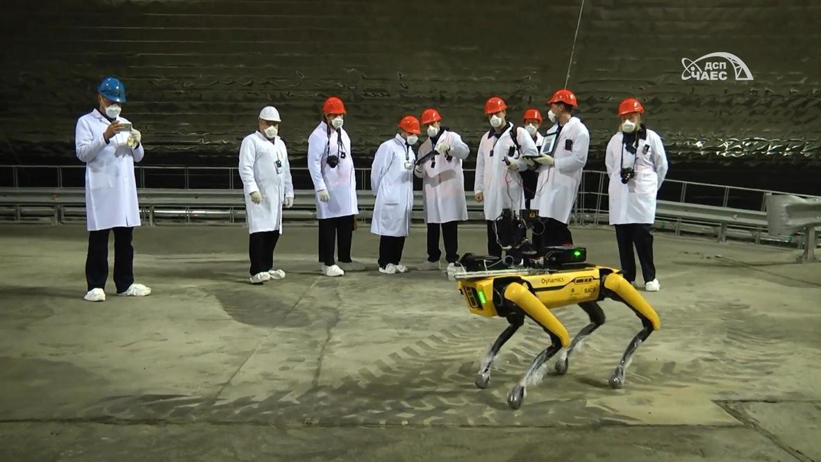 Ucrania: Perro robótico 'Spot' busca señales de radiación en la planta nuclear de Chernóbil