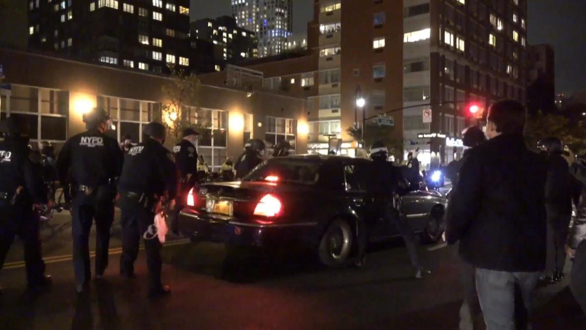 EE.UU.: Un vehículo atraviesa la línea policial en medio de la caótica protesta de Brooklyn