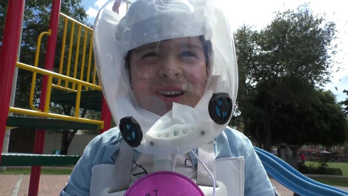 Colombian innovators create 'protective bubble' for children against coronavirus
