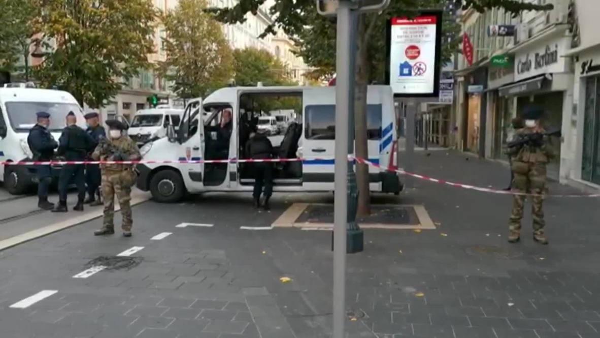 فرنسا: الشرطة تغلق شوارع قرب كنيسة في نيس بعد حادث الطعن المميت