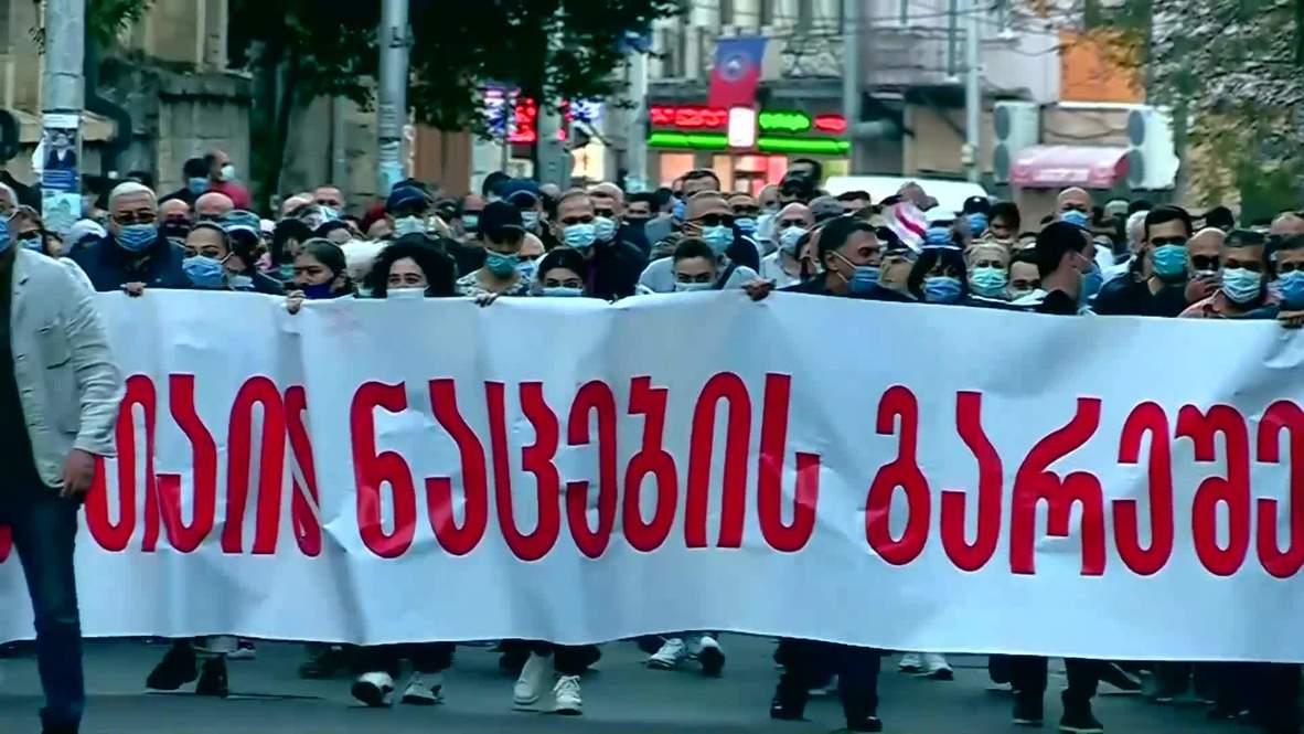 Грузия: Тысячи людей приняли участие в предвыборных митингах