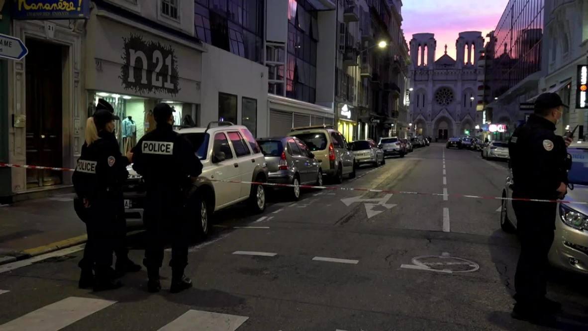"""فرنسا: """"أنا خائف على أطفالنا"""".. سكان نيس يتفاعلون مع هجوم الكنيسة"""