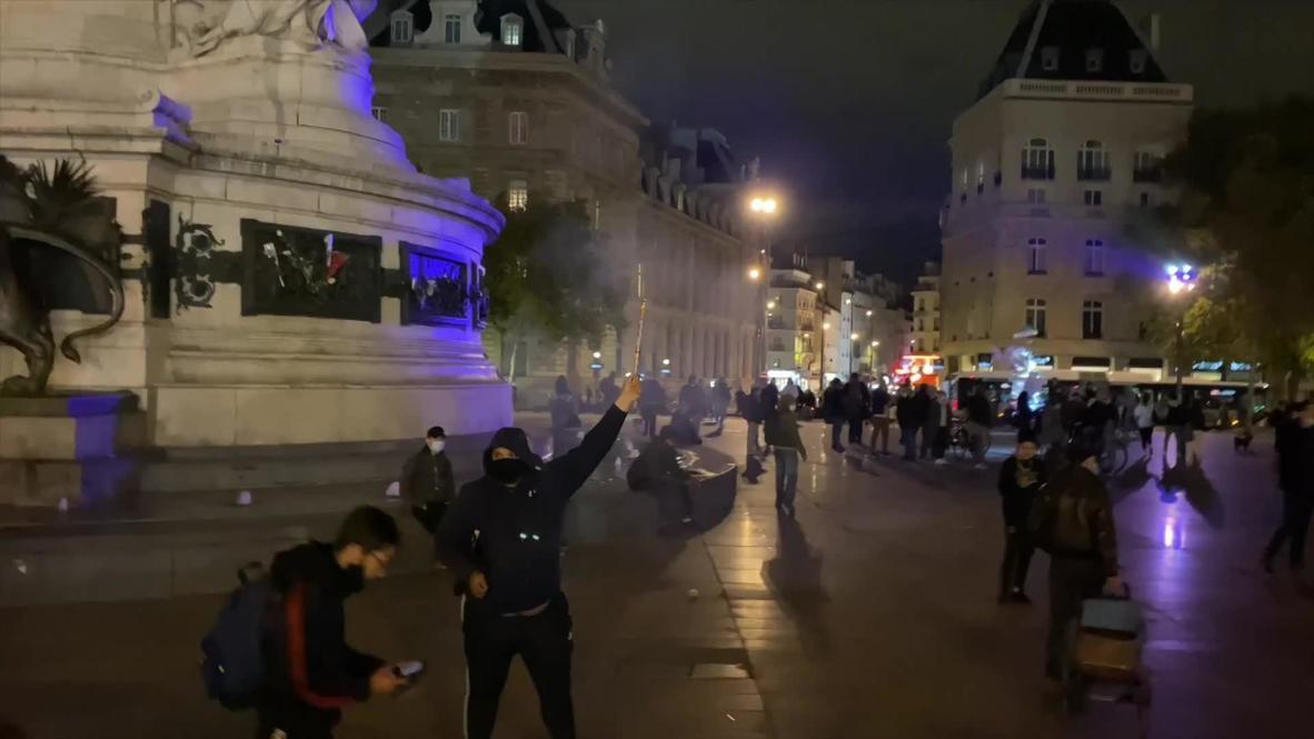 فرنسا: إطلاق الغاز المسيل للدموع في باريس خلال تجمع لمتظاهرين مناهضين للإغلاق الوطني